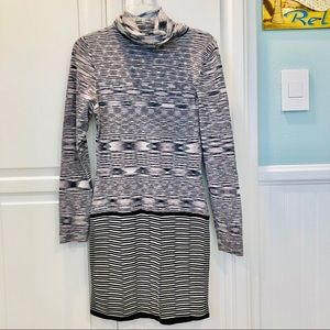 Arden B Long Sleeve Turtleneck Sweater Dress